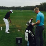 Working on the Trackman with Mark Pearson