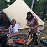 Steve and Tracey glamping