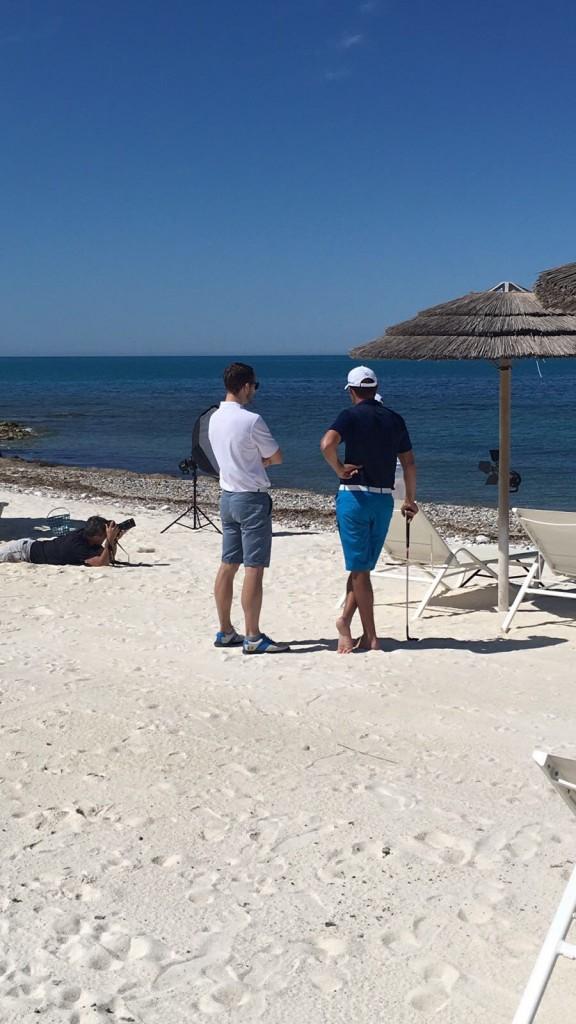 Beach media work